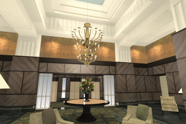 600 E. Huron - Grand Lobby Interior Design